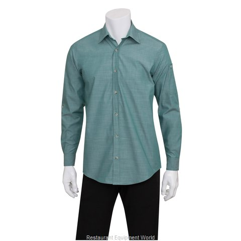 Chef Works SLMCH005GRMS Dress Shirt