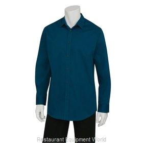 Chef Works SLMNP009BLU3XL Dress Shirt