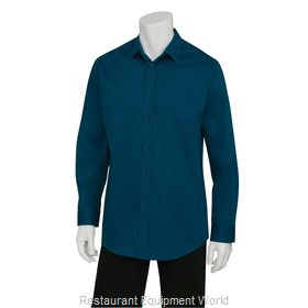 Chef Works SLMNP009BLUS Dress Shirt