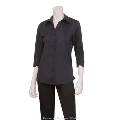 Chef Works WA34BLK2XL Dress Shirt