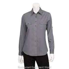 Chef Works WPDSGRYM Cook's Shirt