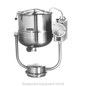 Cleveland Range KDP40T Kettle, Direct Steam, Tilting