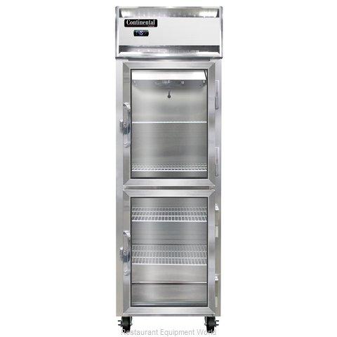 Continental Refrigerator 1F-LT-SS-GD-HD Freezer, Low Temperature, Reach-In