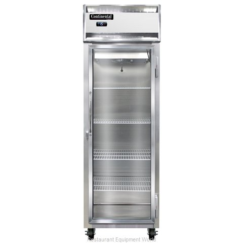 Continental Refrigerator 1F-LT-SS-GD Freezer, Low Temperature, Reach-In