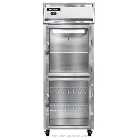 Continental Refrigerator 1FE-LT-SS-GD-HD Freezer, Low Temperature, Reach-In