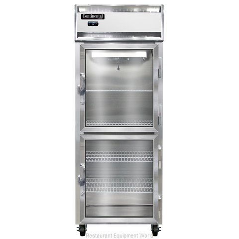 Continental Refrigerator 1FE-SS-GD-HD Freezer, Reach-In