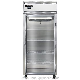 Continental Refrigerator 1FX-LT-GD Freezer, Low Temperature, Reach-In