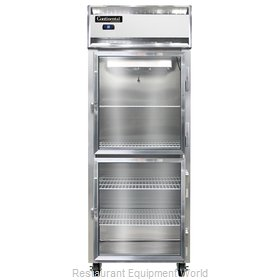 Continental Refrigerator 1RE-SS-GD-HD Refrigerator, Reach-In