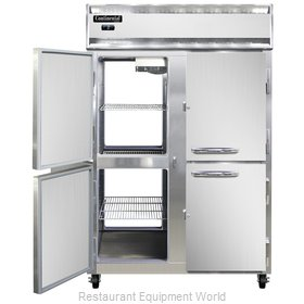 Continental Refrigerator 2F-SS-PT-HD Freezer, Pass-Thru