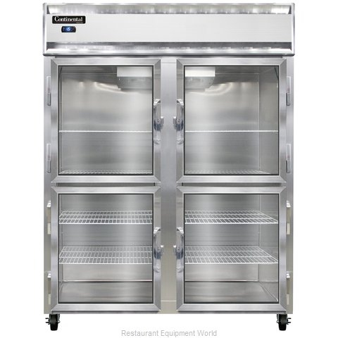 Continental Refrigerator 2FE-LT-SA-GD-HD Freezer, Low Temperature, Reach-In (Magnified)