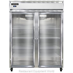 Continental Refrigerator 2FE-LT-SA-GD Freezer, Low Temperature, Reach-In