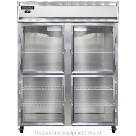 Continental Refrigerator 2RE-GD-HD Refrigerator, Reach-In