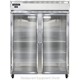 Continental Refrigerator 2RE-SS-GD Refrigerator, Reach-In