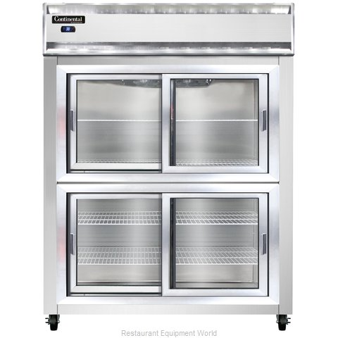 Continental Refrigerator 2RE-SS-SGD-HD Refrigerator, Reach-In