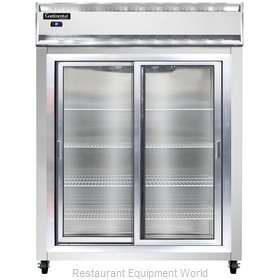 Continental Refrigerator 2RE-SS-SGD Refrigerator, Reach-In