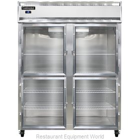 Continental Refrigerator 2RES-SA-GD-HD Refrigerator, Reach-In