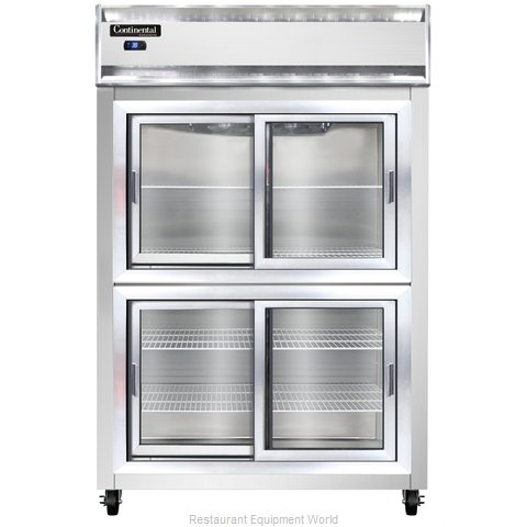 Continental Refrigerator 2RS-SS-SGD-HD Refrigerator, Reach-In