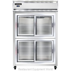 Continental Refrigerator 2RS-SS-SGD-HD Refrigerator, Reach-In