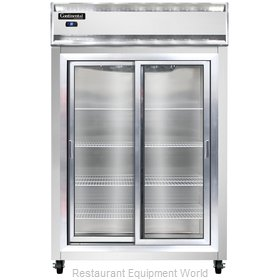Continental Refrigerator 2RS-SS-SGD Refrigerator, Reach-In