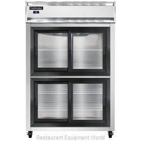 Continental Refrigerator 2RSNSGDHD Refrigerator, Reach-In