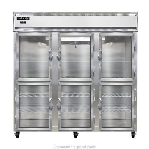 Continental Refrigerator 3F-LT-GD-HD Freezer, Low Temperature, Reach-In