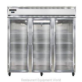 Continental Refrigerator 3F-LT-GD Freezer, Low Temperature, Reach-In