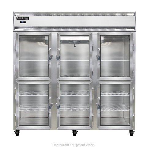 Continental Refrigerator 3F-LT-SS-GD-HD Freezer, Low Temperature, Reach-In
