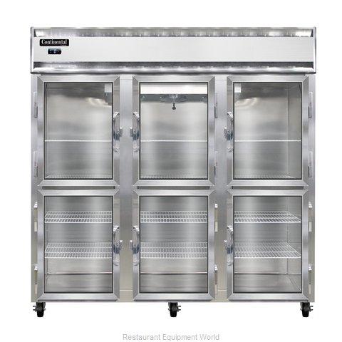Continental Refrigerator 3F-SA-GD-HD Freezer, Reach-In