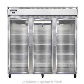 Continental Refrigerator 3F-SS-GD Freezer, Reach-In