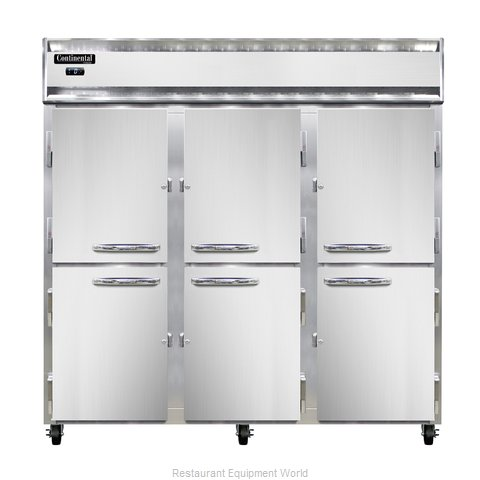 Continental Refrigerator 3F-SS-PT-HD Freezer, Pass-Thru