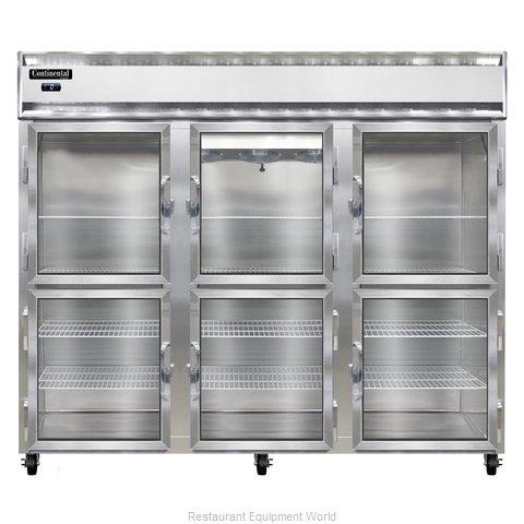 Continental Refrigerator 3FE-GD-HD Freezer, Reach-In