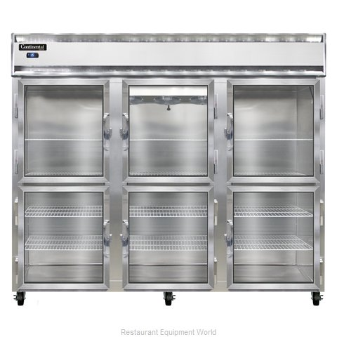 Continental Refrigerator 3FE-LT-GD-HD Freezer, Low Temperature, Reach-In