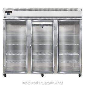 Continental Refrigerator 3FE-LT-GD Freezer, Low Temperature, Reach-In