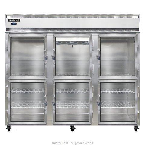 Continental Refrigerator 3FE-LT-SA-GD-HD Freezer, Low Temperature, Reach-In
