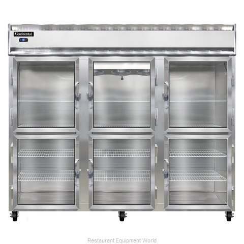 Continental Refrigerator 3FE-LT-SS-GD-HD Freezer, Low Temperature, Reach-In