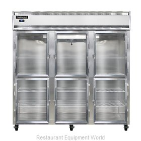 Continental Refrigerator 3R-GD-HD Refrigerator, Reach-In