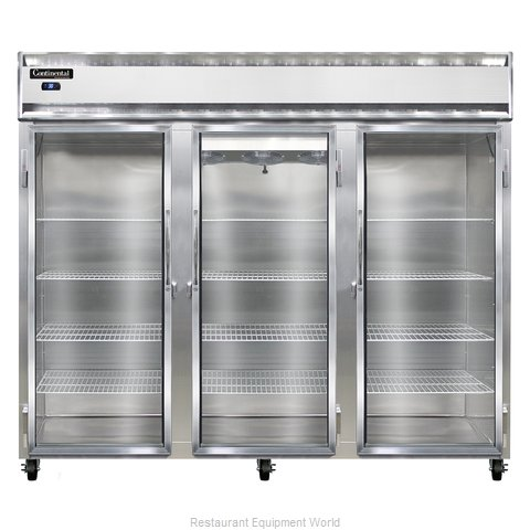 Continental Refrigerator 3RE-GD Refrigerator, Reach-In