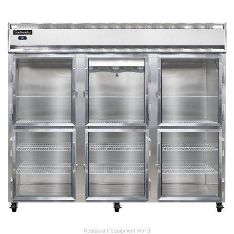 Continental Refrigerator 3RE-SA-GD-HD Refrigerator, Reach-In