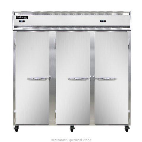 Continental Refrigerator 3RFF-SS Refrigerator Freezer, Reach-In