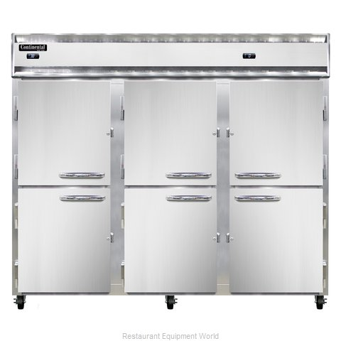 Continental Refrigerator 3RFFE-SS-HD Refrigerator Freezer, Reach-In (Magnified)