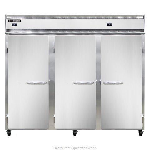 Continental Refrigerator 3RFFE-SS Refrigerator Freezer, Reach-In