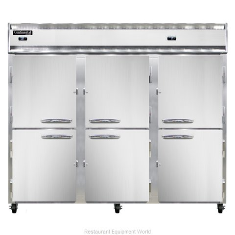 Continental Refrigerator 3RRFE-HD Refrigerator Freezer, Reach-In