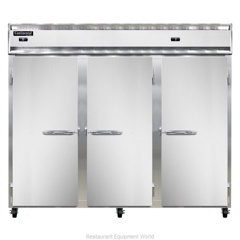 Continental Refrigerator 3RRFE-SS Refrigerator Freezer, Reach-In