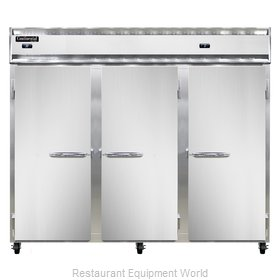 Continental Refrigerator 3RRFE-SS Refrigerator Freezer, Reach-In
