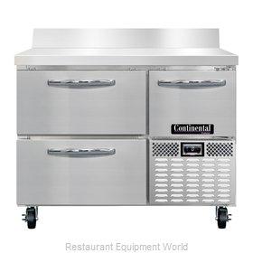 Continental Refrigerator CFA43-BS-D Freezer Counter, Work Top