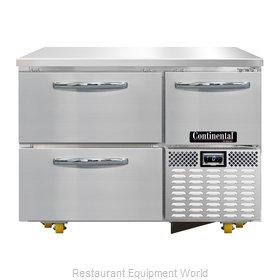 Continental Refrigerator CFA43-U-D Freezer, Undercounter, Reach-In