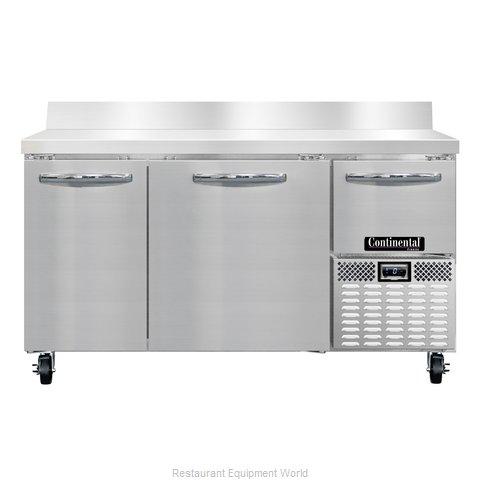 Continental Refrigerator CFA60-BS Freezer Counter, Work Top