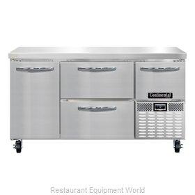 Continental Refrigerator CFA60-D Freezer Counter, Work Top