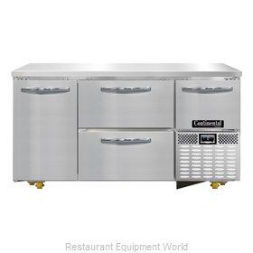 Continental Refrigerator CFA60-U-D Freezer, Undercounter, Reach-In