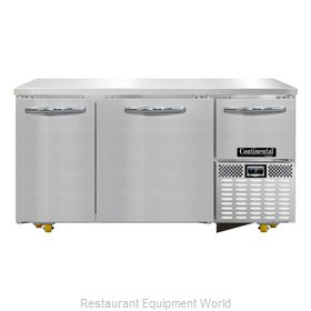 Continental Refrigerator CFA60-U Freezer, Undercounter, Reach-In